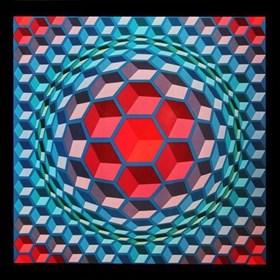 Grafika do salonu artysty Victor Vasarely pod tytułem cheyt-mc-4