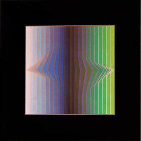 Grafika do salonu artysty Victor Vasarely pod tytułem ilile-III