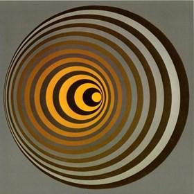 Grafika do salonu artysty Victor Vasarely pod tytułem oervegn-II
