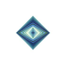 Grafika do salonu artysty Victor Vasarely pod tytułem rhombus
