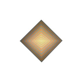 Grafika do salonu artysty Victor Vasarely pod tytułem rhombus-c