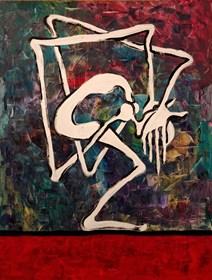 Obraz do salonu artysty Wojciech Mazek pod tytułem Splątanie Myśli