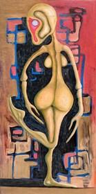 Obraz do salonu artysty Wojciech Mazek pod tytułem Donna Pink