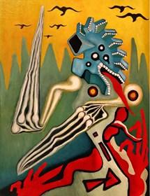 Obraz do salonu artysty Wojciech Mazek pod tytułem Pan Lodowego Ogrodu