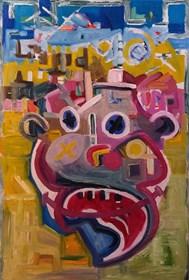 Obraz do salonu artysty Wojciech Mazek pod tytułem Błazen4