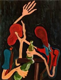 Obraz do salonu artysty Wojciech Mazek pod tytułem Małe Piwko z Korzeniami