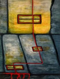 Obraz do salonu artysty Wojciech Mazek pod tytułem Przez Okno