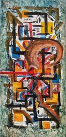 Obraz do salonu artysty Wojciech Mazek pod tytułem Cyklop W Kolejce Do ZUS