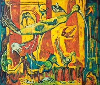 Obraz do salonu artysty Barbara Bakalarska pod tytułem Ptasznik