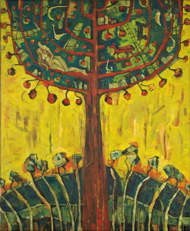 Obraz do salonu artysty Barbara Bakalarska pod tytułem Jabłoń