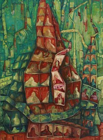 Obraz do salonu artysty Barbara Bakalarska pod tytułem Wieża Babel