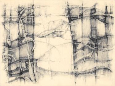Grafika do salonu artysty Barbara Bakalarska pod tytułem Akwarium