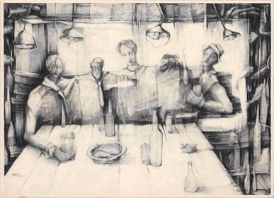 Grafika do salonu artysty Barbara Bakalarska pod tytułem Towarzystwo wzajemnej adoracji