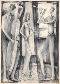 Grafika do salonu artysty Barbara Bakalarska pod tytułem Kapela