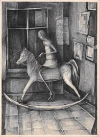 Grafika do salonu artysty Barbara Bakalarska pod tytułem Dzieciństwo