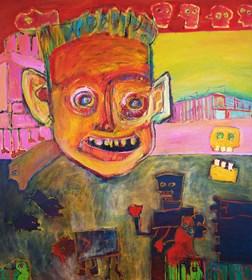 Obraz do salonu artysty Michał Ostrowski pod tytułem bez tytułu