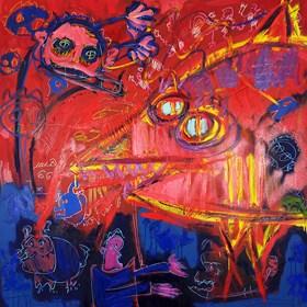 Obraz do salonu artysty Michał Ostrowski pod tytułem Rekin