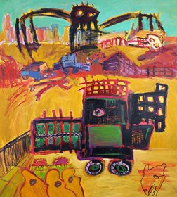 Obraz do salonu artysty Michał Ostrowski pod tytułem Okropna maszyna