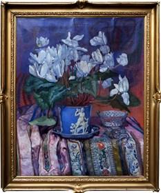 Obraz do salonu artysty Adam Grabowski pod tytułem Martwa natura z fiołkami