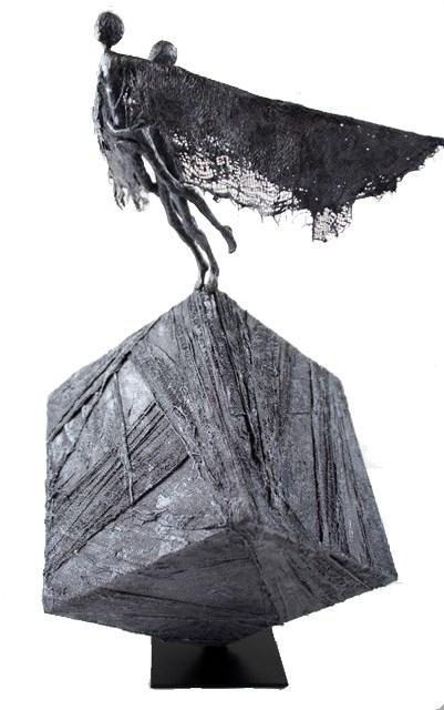 Living room sculpture by Anna Perek-Sobierajska titled From the series IKAR GIRL - TRUST