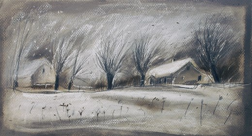 Living room print by Anna Spałek-Młynarczyk titled Snowstorm