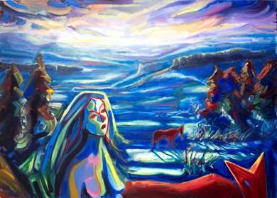 Obraz do salonu artysty Maciej Cieśla pod tytułem wędrująca zima