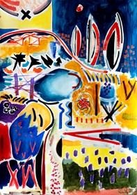 Obraz do salonu artysty Maciej Cieśla pod tytułem Toskania w uproszczonych formach