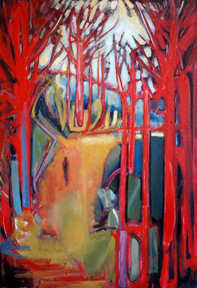 Obraz do salonu artysty Maciej Cieśla pod tytułem Samotna droga I