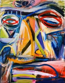 Obraz do salonu artysty Maciej Cieśla pod tytułem Z serii między snem a autoportretem
