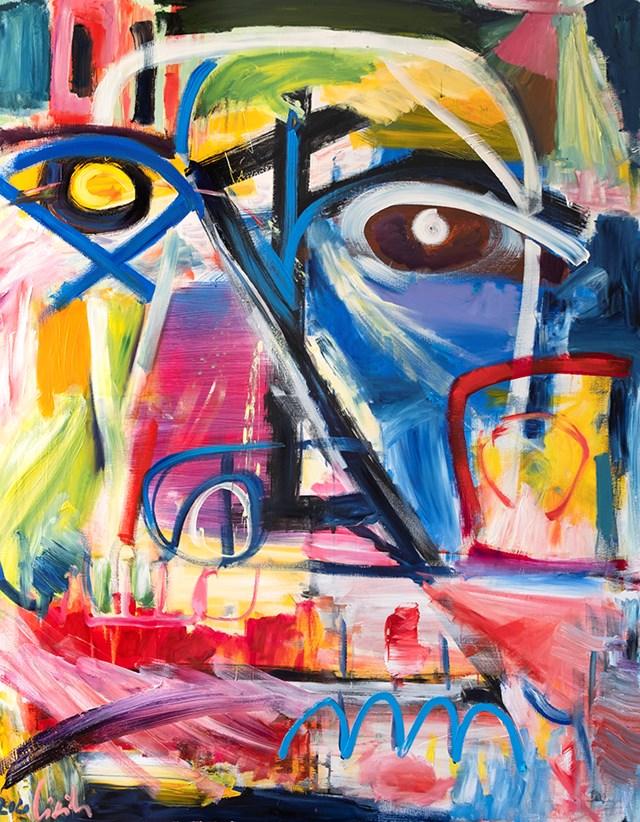 Obraz do salonu artysty Maciej Cieśla pod tytułem Portrait- betweeen dream and acrhetype series