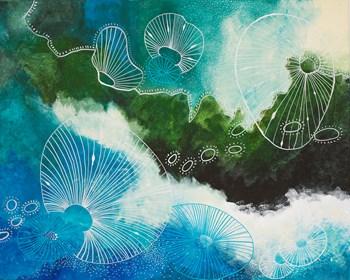 Obraz do salonu artysty Agnieszka  Maria Czekaj pod tytułem Bezludna wyspa