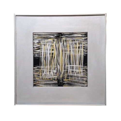 Living room painting by Joanna Daniło titled Silk walkways III