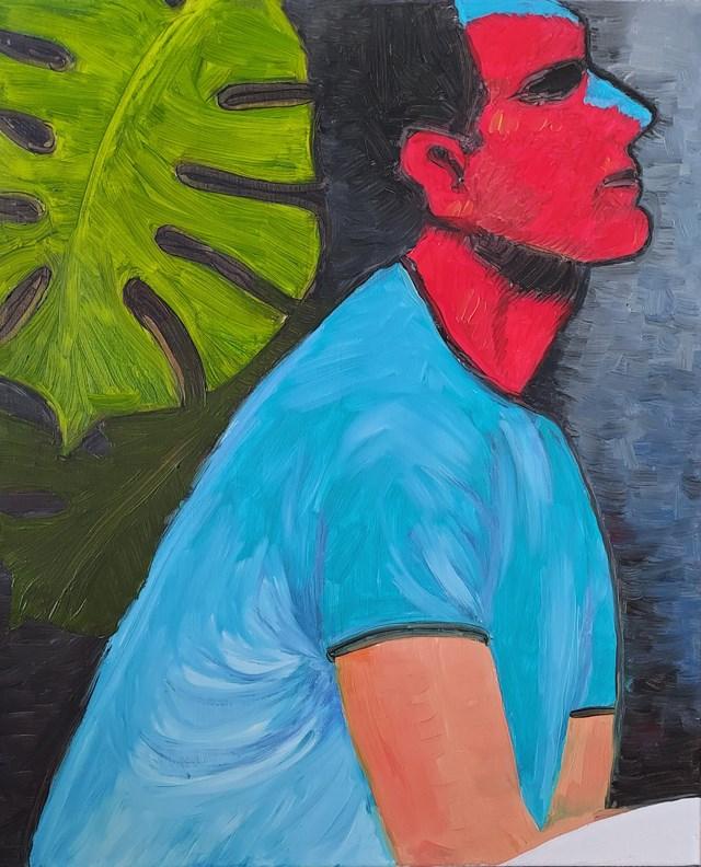 Living room painting by Joanna Daniło titled Always boys I