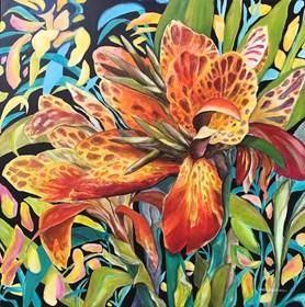 Obraz do salonu artysty Angelika Galus pod tytułem Feeria kwiatowa XIII
