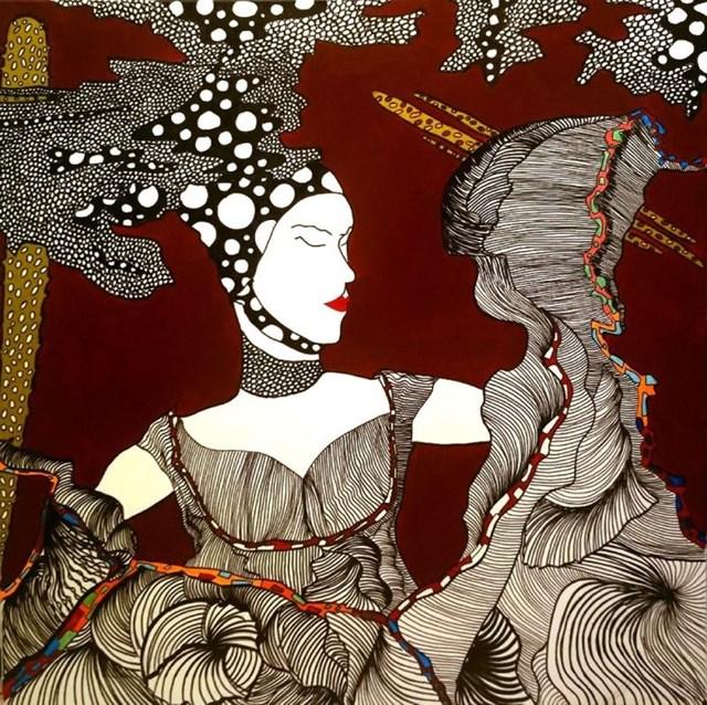 Obraz do salonu artysty Agata Bajszczak pod tytułem Me, myself and I