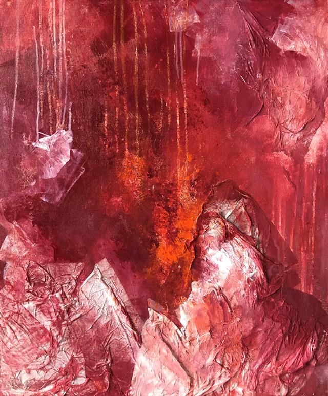 Obraz do salonu artysty Joanna Wietrzycka pod tytułem The power of crimson 2