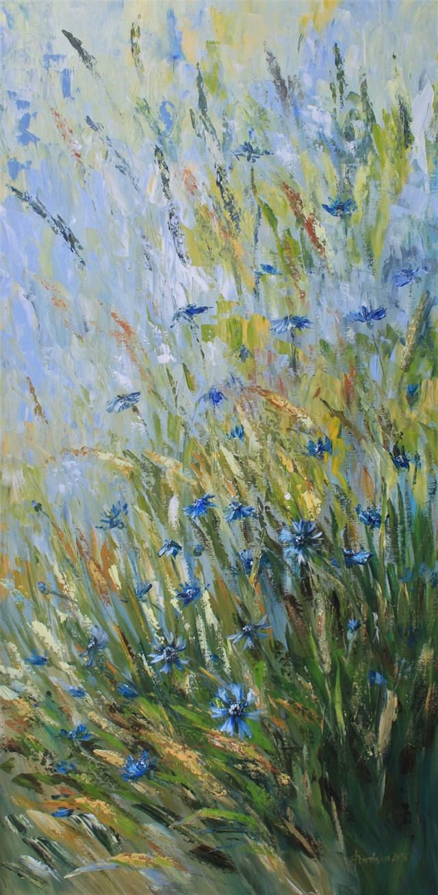 Obraz do salonu artysty Elżbieta Ponińska pod tytułem Chabry