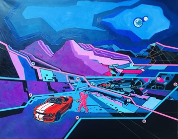 Obraz do salonu artysty David Razma pod tytułem Nowe miejsce