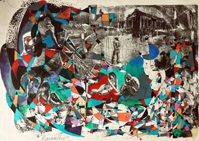 Grafika do salonu artysty David Razma pod tytułem Aleja