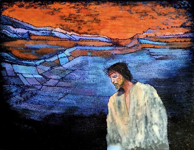 Obraz do salonu artysty David Razma pod tytułem Ciężki krzyż