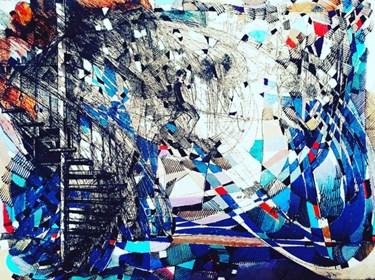 Grafika do salonu artysty David Razma pod tytułem Schody