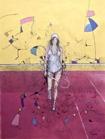 Obraz do salonu artysty David Razma pod tytułem Tenisistka