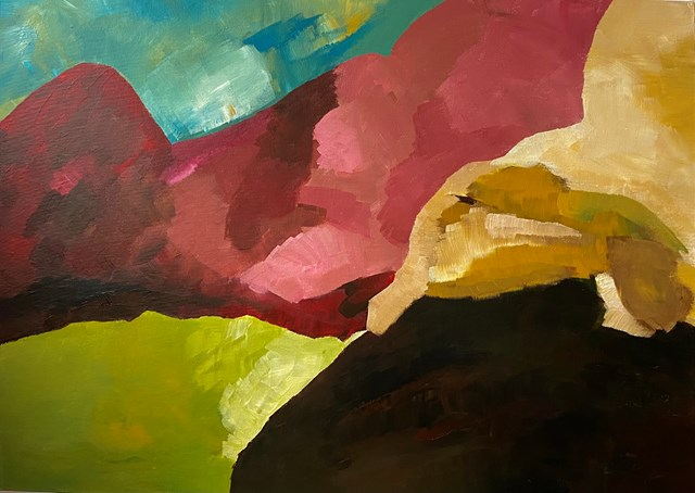 Living room painting by Natalia Kozarzewska titled Colorado Great Canion