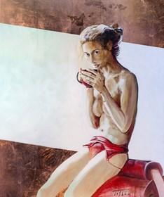 Obraz do salonu artysty Kamila Szadaj pod tytułem Coffe time