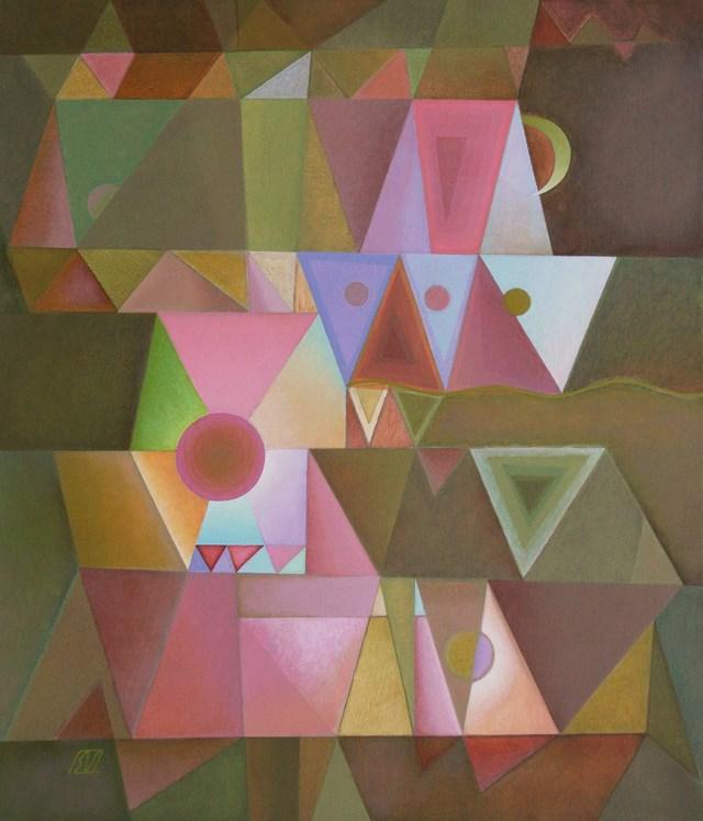Obraz do salonu artysty Serge Vasilendiuc pod tytułem Port o zachodzie słońca