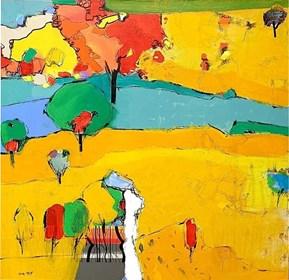Obraz do salonu artysty Ahmad Abou Zainah pod tytułem Bez tytułu