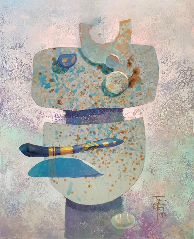 Obraz do salonu artysty Katarzyna Wołodkiewicz pod tytułem Amulet - Obfitość