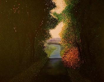 Obraz do salonu artysty Jacek Malinowski pod tytułem Uscendo ombre