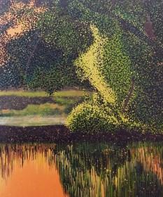 Obraz do salonu artysty Jacek Malinowski pod tytułem Park Starowiejski ( Kacza Wyspa )