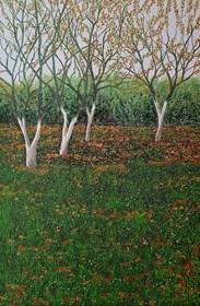 Obraz do salonu artysty Jacek Malinowski pod tytułem Listopad w Kisielinie